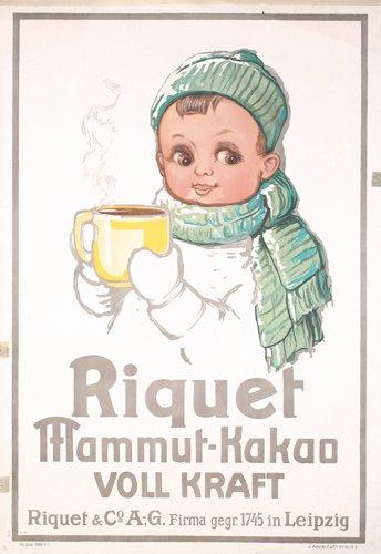 2: GERMAN CHOCOLATE Poster 1910s ORIGINAL