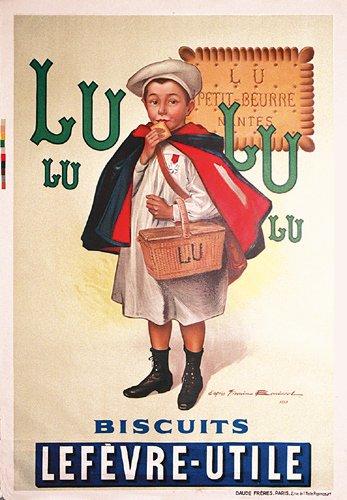 3: ORIGINAL POSTER Lu Lu Biscuits 1930s