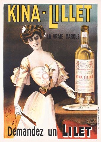 6: ORIGINAL Kina-Lillet Poster 1910