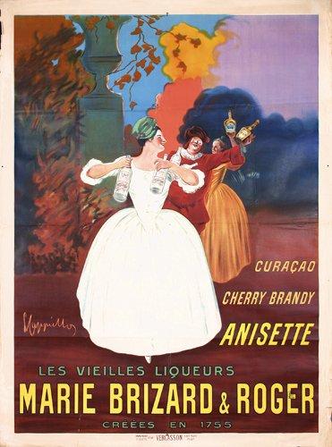7: RARE Cappiello Poster 1912 Marie Brizard