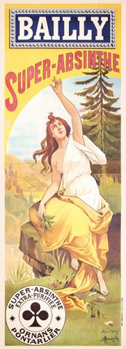 9: RARE ORIGINAL Absinthe Poster 1900