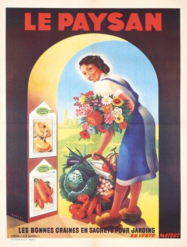 10: Poster Le Paysan Max Ponty 1950
