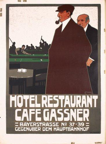 12: ORIGINAL Restaurant Poster Plakat Moos 1908