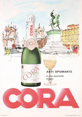 13: Old ITALIAN Asti Spumante Poster 1950s