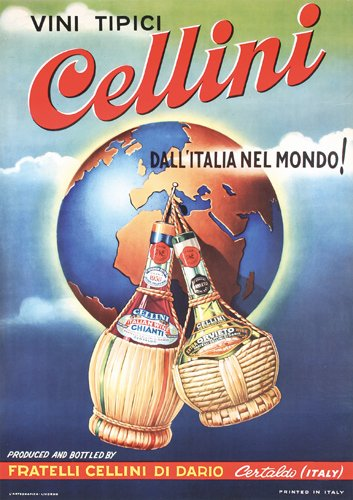 15: ORIG Cellini Advertising Poster Italy