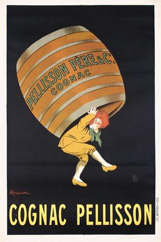 16: ORIG Cappiello Cognac Pellison Poster 1900s