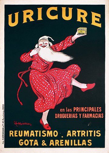 19: Cappiello Advertising Poster Uricure 1920s