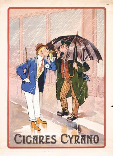 23: OLD ORIG Cigar Cyrano Poster 1920s