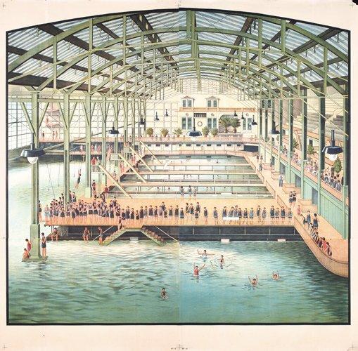335: RARE 1890s ORIGINAL Sutro Baths Poster