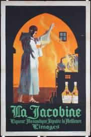 Original 1920s French Jacobine Liquor Poster CARLU Art