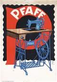 Original 1900s LUDWIG HOHLWEIN Poster Pfaff Sewing Mach