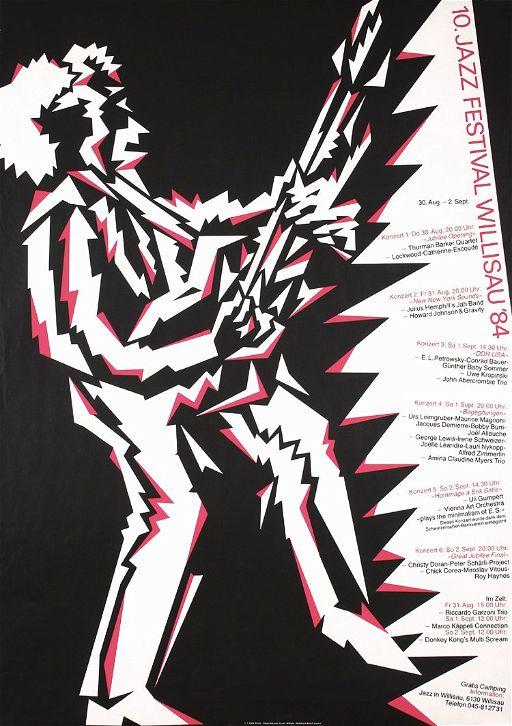 original swiss jazz poster niklaus troxler