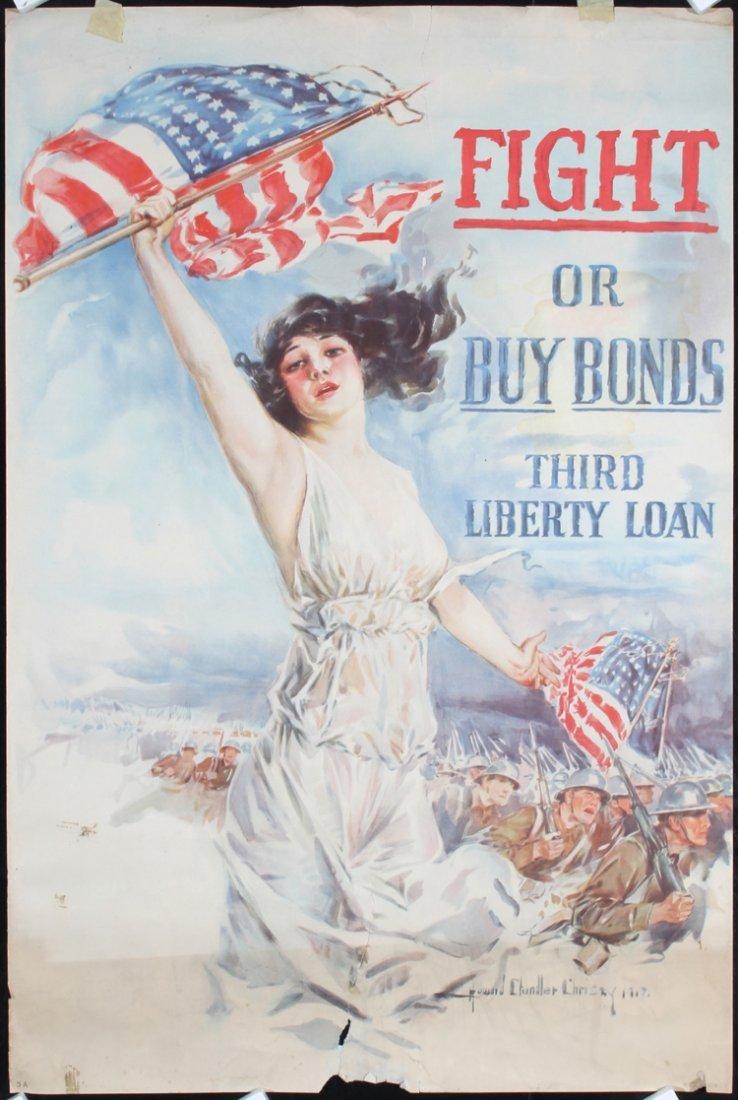 8 Original American World War I Posters NEED REPAIR !