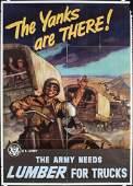 Set of 4 Original American World War II Posters YANKS