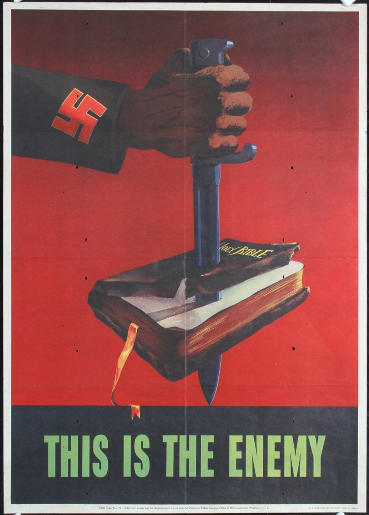 Original American THIS IS THE ENEMY World War II Poster