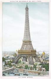 RARE ORIG 1889 Paris Eiffel Tower World�s Fair Poster