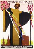 ORIGINAL 1930s LUDWIG HOHLWEIN Munich Poster Plakat