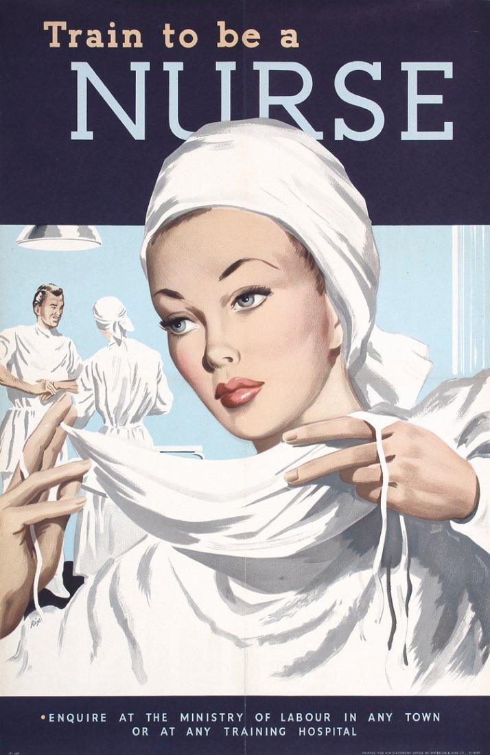 2 Original 1940s British World War II Nurse Posters