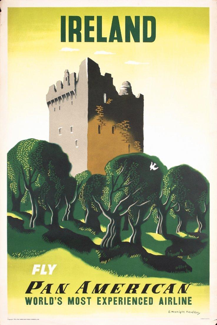 Original 1950s KAUFFER Ireland Airlines Travel Poster