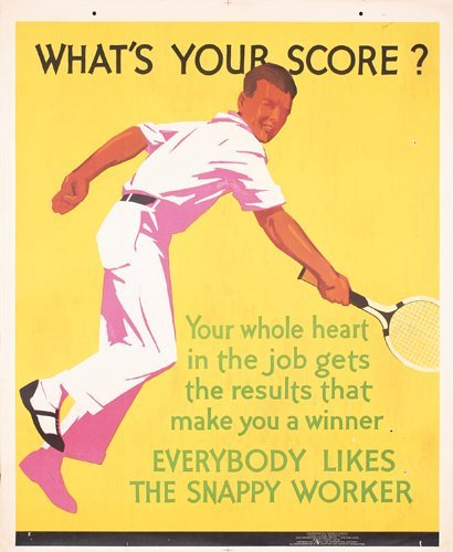 4: FANTASTIC 1920s Tennis Poster Mather Chicago