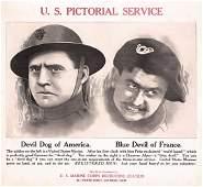 21: GROUP OF 9 US WW I Marine Posters ORIGINAL