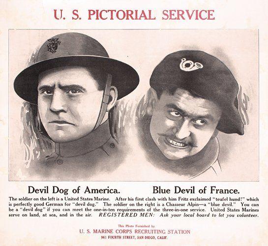 GROUP OF 9 US WW I Marine Posters ORIGINAL