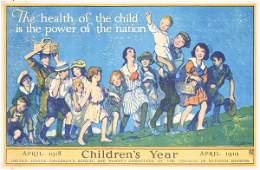 27: ORIGINAL US WW I Luis Mora Poster CHILDREN'S YEAR