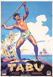 233: ORIGINAL 1931 Tabu Poster German 1 SH MURNAU