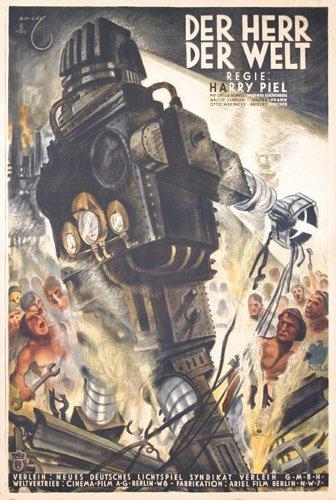 237: ORIGINAL 1930s SCI-FI Herr der Welt POSTER PLAKAT