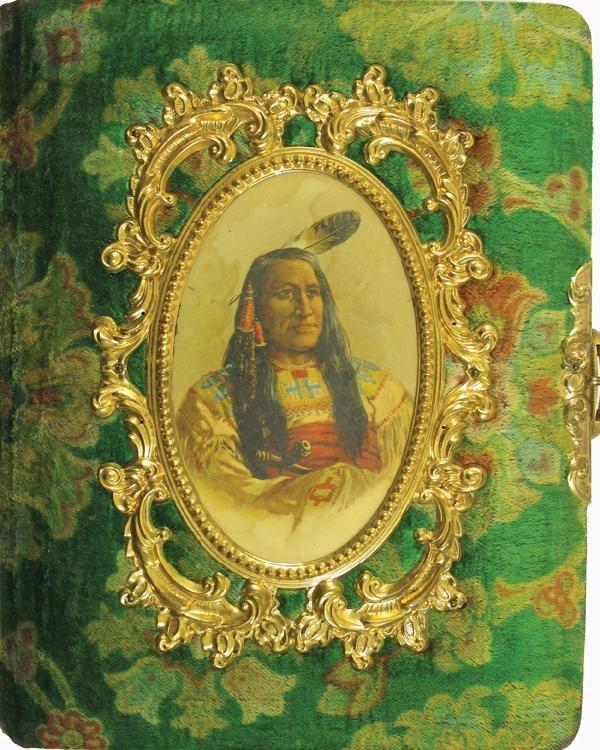 101: American Indian Photo Album, Velvet and Gilt