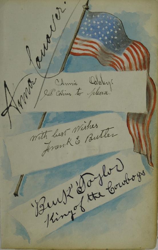 102: Annie Oakley Signed Lettersheet