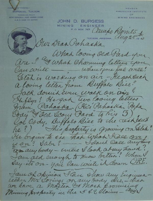 106: Buffalo Bill Letter