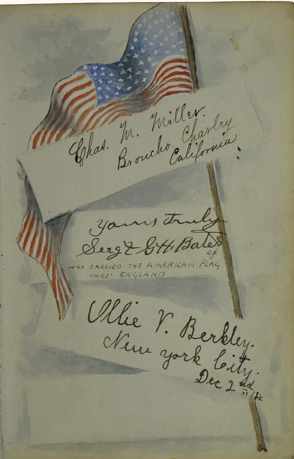 110: Buffalo Bill's Wild West Show Signatures Lettershe