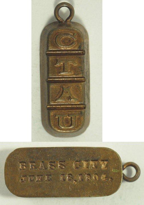 111: Copper Watch Fob Ingot