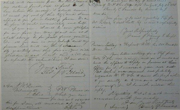 113: Denver, J. W. Letter concerning Thos. Villard