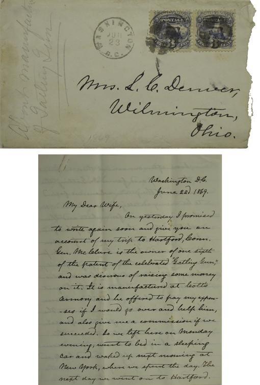 114: Denver, J. W. Letter on Invention of the Gatling
