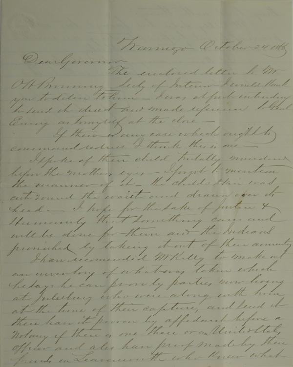 115: Denver, J. W. Letter Regarding Child's Murder by