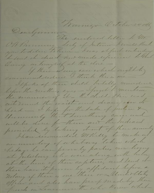 115: Denver, J. W. Letter Regarding Child's Murder by