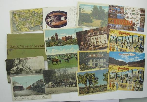 1044: Collection of Misc. Post Cards and Photographs