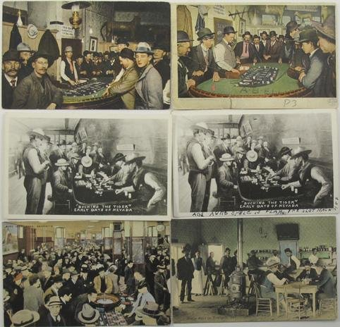 1052: Gaming Photo Post Cards - Pre 1910