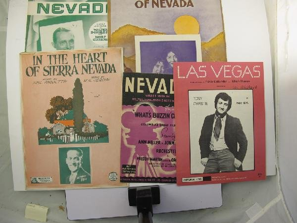 1057: Nevada Themed Sheet Music Collection