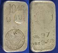 1983: United States Branch Mint Silver Ingot