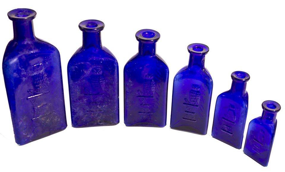 103: Owl Poison Cobalt Bottles