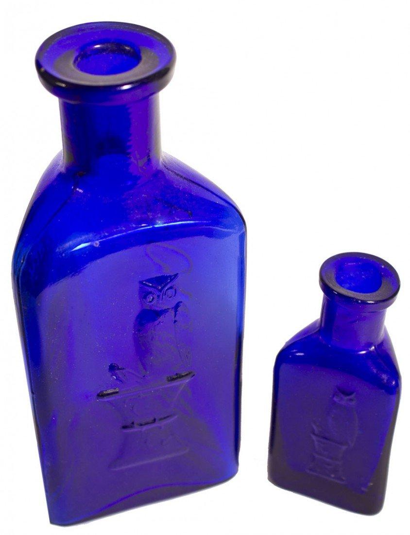 105: Owl Poison Cobalt Bottles