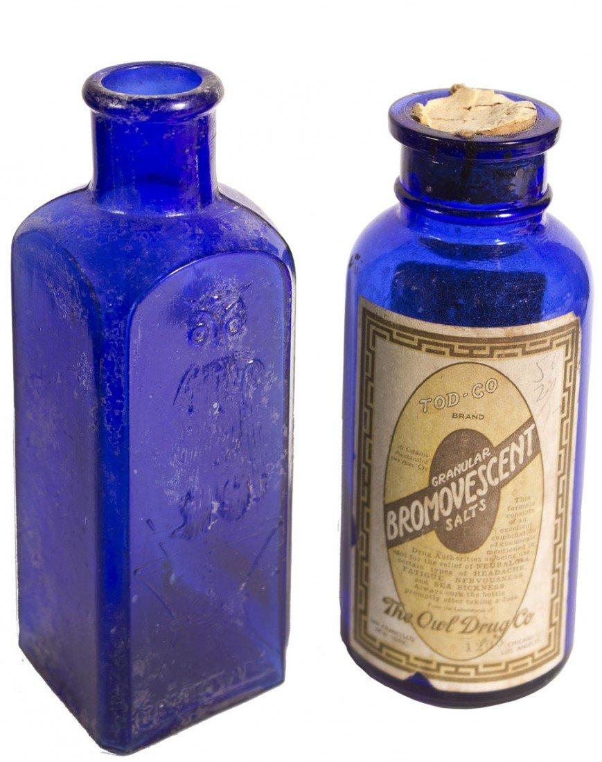 106: Owl Poison Cobalt Bottles