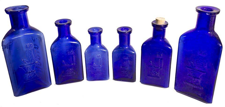 111: Owl Poison Cobalt Bottles