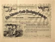 677: CO - Julian,1900 - Advance Gold-Dredging Stock Cer