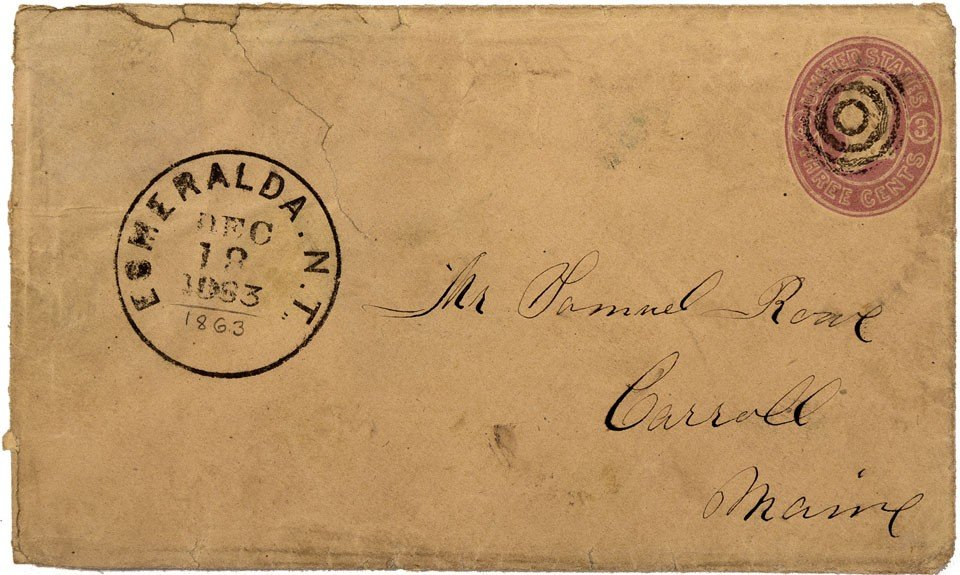 895: NV - Aurora County - 1863 - Cover *Territorial* -