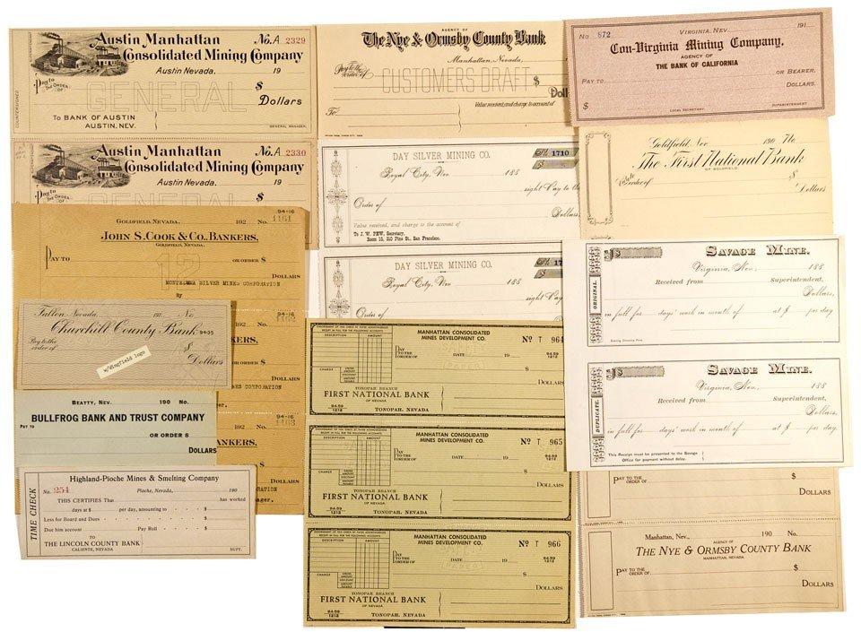 900: NV - Nevada Checks Collection - Gil Schmidtmann Co