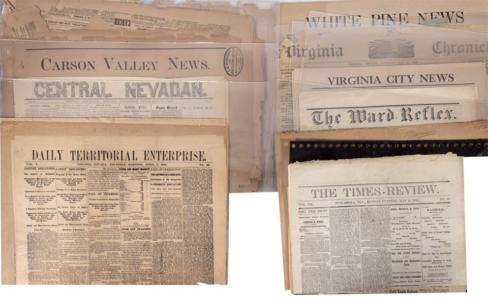 905: NV - 1865-1972 - Nevada Newspaper Grouping - Gil S